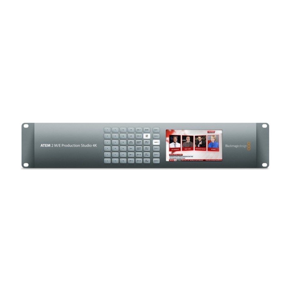 Blackmagic ATEM 2 M/E Production Studio 4K - Mélangeur vidéo de production live 20 entrées 6G-SDI