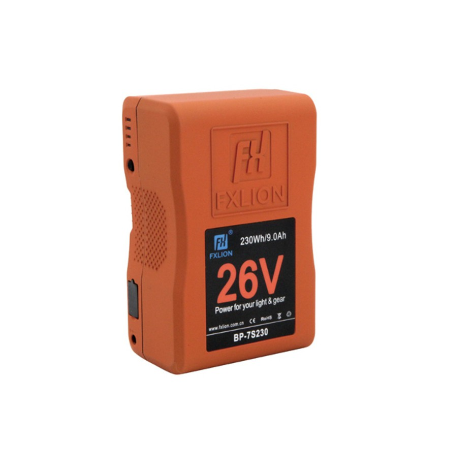 Fxlion BP-7S230, batterie V-Mount 26 V - 230 Wh pour caméra et éclairage vidéo
