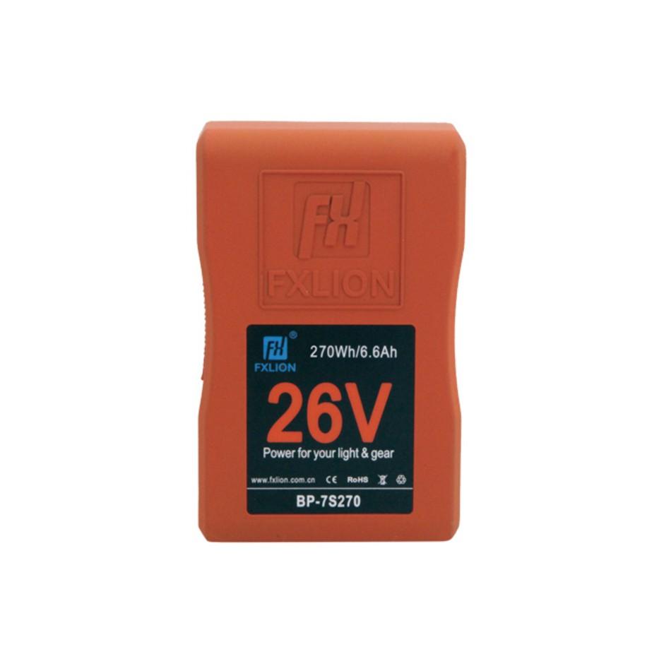 Fxlion BP-7S270 - Batterie V-Mount 26 V - 270 Wh pour caméra et éclairage vidéo