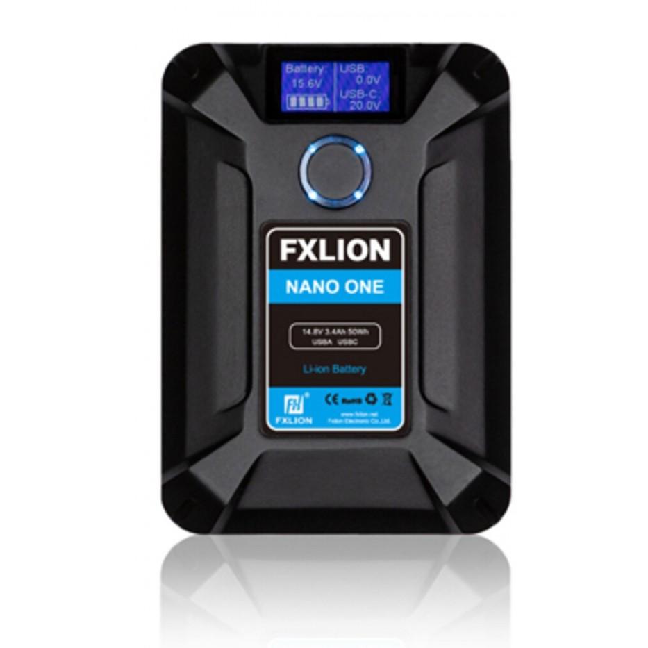 Fxlion Nano One, batterie v-mount avec ports D-Tap, USB-A, Micro USB et USB-C