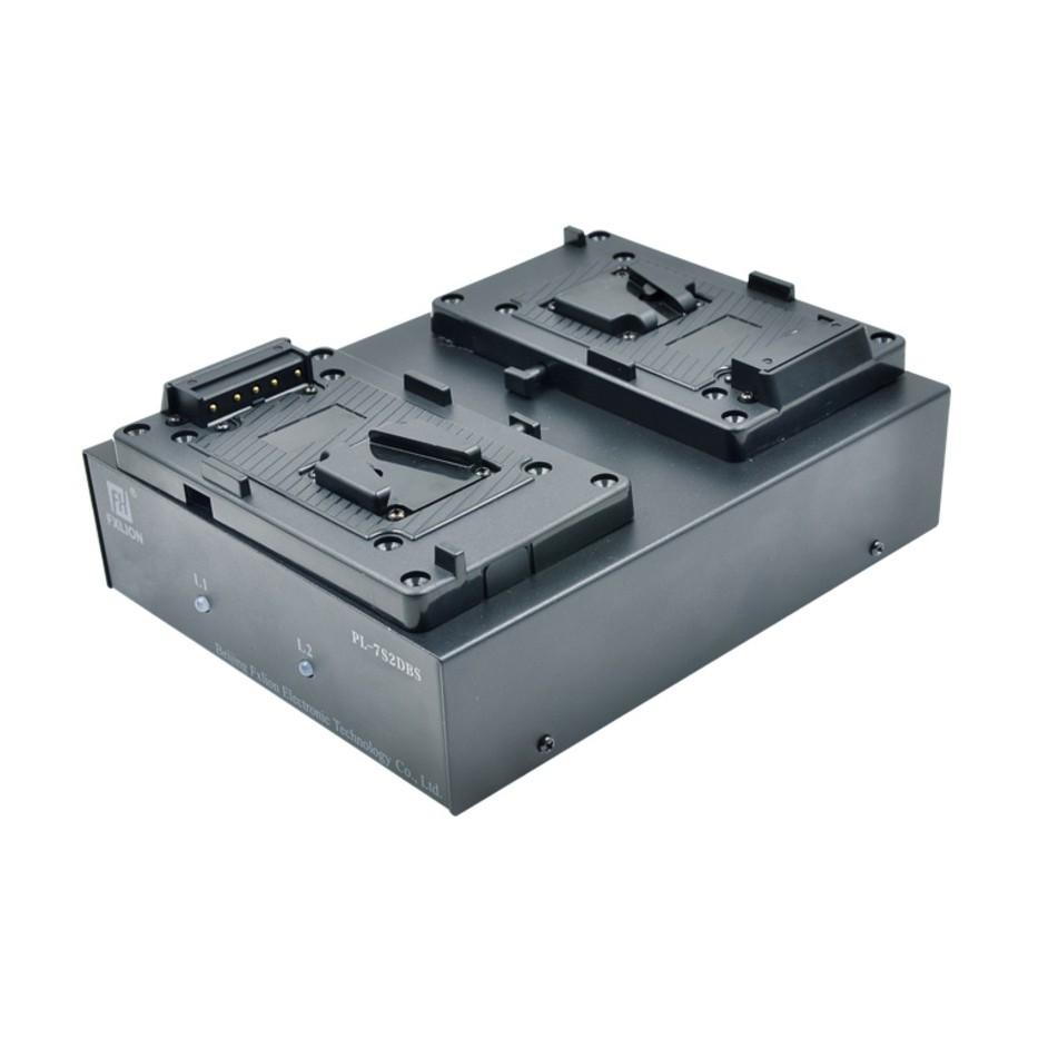 Fxlion PL-7S2DS - Chargeur de batterie 26 V à 2 voies pour caméra pro et éclairage vidéo