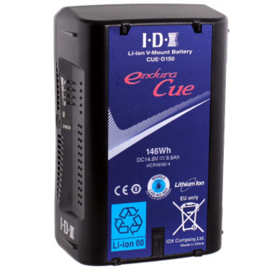 IDX CUE-D150, batterie V-Mount 146 Wh 14,8 V avec sortie D-Tap 50 W