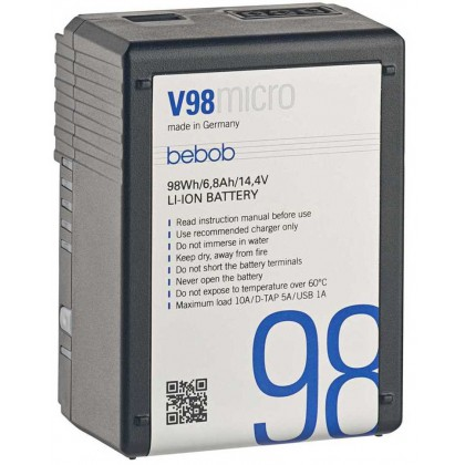 V98 Micro - Batterie micro V-mount Lithium-ion 98 Wh