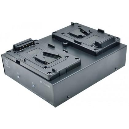 PL-7S2DS - Chargeur de batterie 26 V à 2 voies pour caméra pro et éclairage vidéo