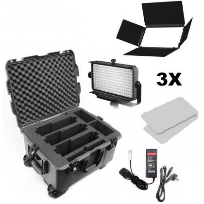 Practilite 802 Kit - 3 panneaux LED bi-color 30x15 cm