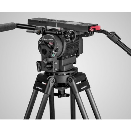 2560 - Tete fluide cinema + trepied & triangle sol