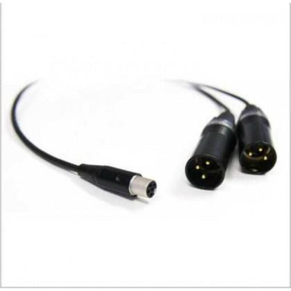CA 6042 XLR - Câble audio mini XLR 5 vers 2 XLR 3 pour récepteur HF EK 6042