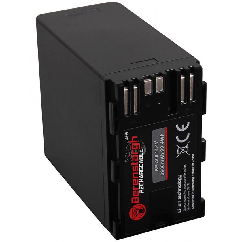Berenstargh BP-A60 - Batterie haute capacité 6900 mAh pour caméra Canon
