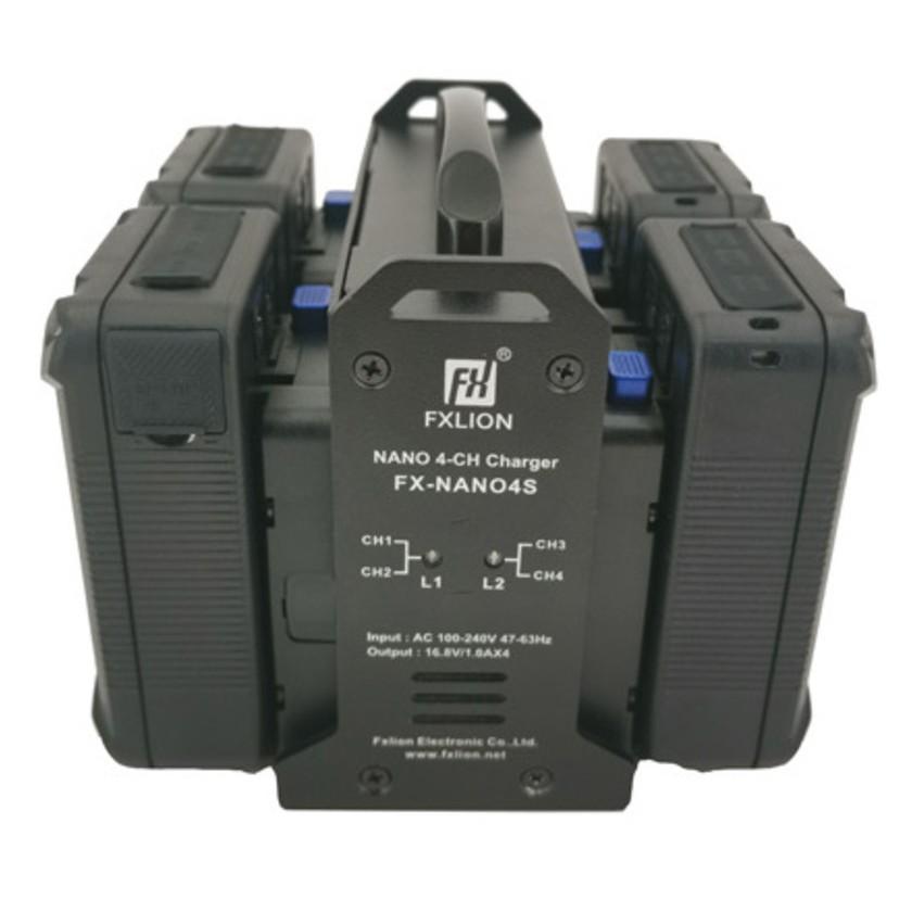 Fxlion FX-NANO4S - Chargeur 4 voies de batterie Nano V-lock