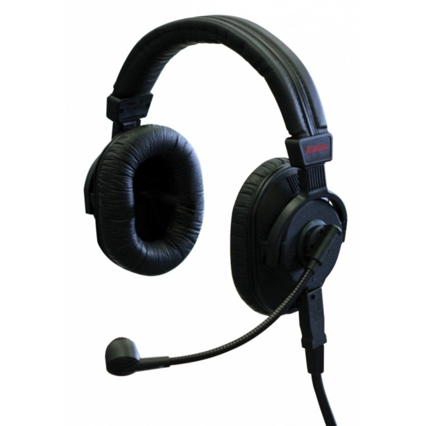 Riedel PRO-D2 XLR4 - Casque audio double oreillette avec micro hypercadioide pour intercom Riedel Bolero